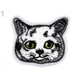 Nažehlovačka mačka, pes šedo-biela 1ks Stoklasa