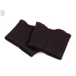 Elastické náplety na rukávy šírka 7 cm hnedá tm. 1pár