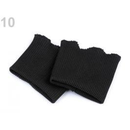 Elastické náplety na rukávy šírka 7 cm čierna 1pár