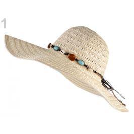 Dámsky klobúk na ozdobenie režná svetlá 1ks Stoklasa