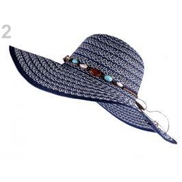 Dámsky klobúk na ozdobenie modrá tmavá 1ks Stoklasa