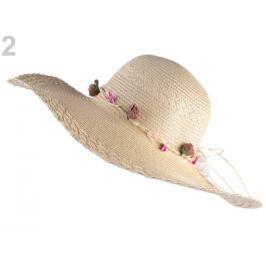 Dámsky klobúk / slamák na ozdobenie prírodné 1ks Stoklasa