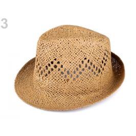 Letný klobúk na ozdobenie, unisex hnedá prírodná 1ks Stoklasa