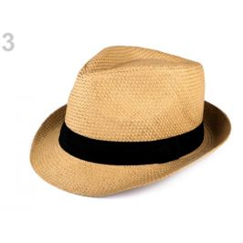 Letný klobúk unisex hnedá prírodná 1ks Stoklasa
