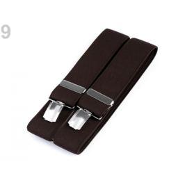Traky šírka 3,5 cm dĺžka 120 cm čiernohnedá 1ks