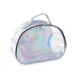 Holografická kozmetická taška / kufrík 17x23 cm 2. akosť strieborná 1ks Stoklasa