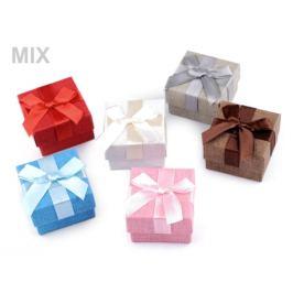 Krabička na šperky 5x5 cm modrá azurová 1ks Stoklasa