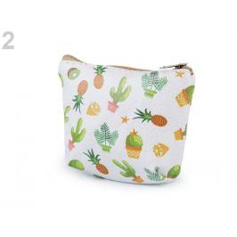 Peňaženka / puzdro kaktus, ananas 8,5x10,5 cm krémová najsvetl 1ks Stoklasa