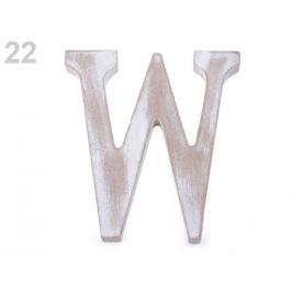Drevené písmená abecedy vintage biela prírodná 1ks Stoklasa