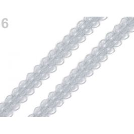 Silónová čipka / vsadka šírka 14 mm šedá 15m Stoklasa