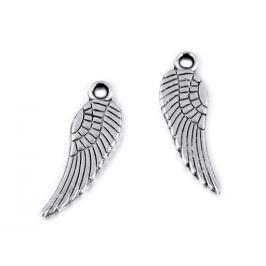 Prívesok anjelské krídlo 5x17 mm platina 20ks Stoklasa