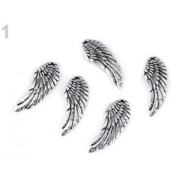 Prívesok anjelský krídlo 10x26 mm platina 5ks Stoklasa