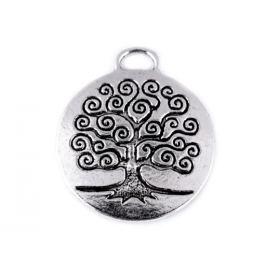 Prívesok strom života Ø23 mm platina 2ks Stoklasa