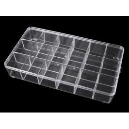 Plastový box / zásobník 16,5x29 cm Transparent 1ks Stoklasa