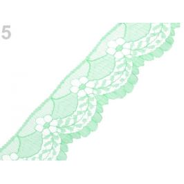 Silónová čipka šírka 40 mm mint 15m Stoklasa