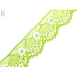 Silónová čipka šírka 40 mm zelená sv. 15m Stoklasa