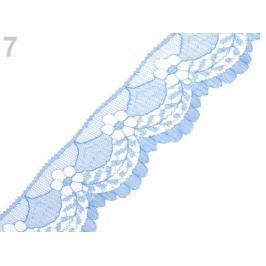 Silónová čipka šírka 40 mm modrá sv. 15m Stoklasa