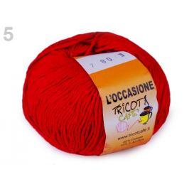 Pletacie priadza L´occasione 100 g červená 1ks