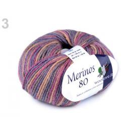 Pletacia priadza Merinos 50 g fialová 1ks
