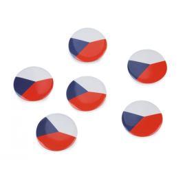 Placka - vlajka Česká republika Ø3,5 cm Stoklasa