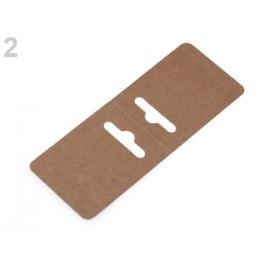 Papierové závesky na bižutériu 50x130 mm hnedá prírodná 100ks