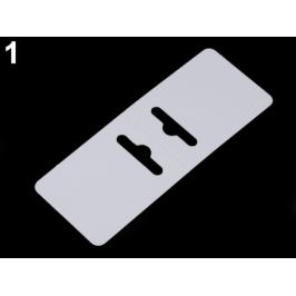 Papierové závesky na bižutériu 50x130 mm biela 100ks