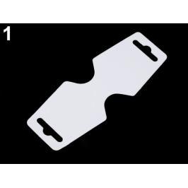 Papierové závesky na bižutériu 55x150 mm biela 100ks