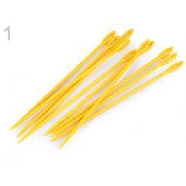 Plastové ihly dĺžka 15 cm tupé žltá   10ks Stoklasa