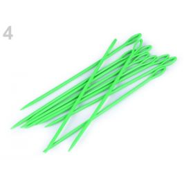 Plastové ihly dĺžka 15 cm tupé zelená sv. 10ks Stoklasa