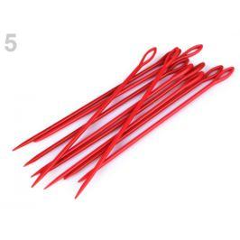 Plastové ihly dĺžka 15 cm tupé červená 10ks Stoklasa