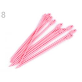 Plastové ihly dĺžka 15 cm tupé ružová str. 10ks Stoklasa