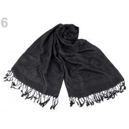 Šál typu pashmina so strapcami 65x170 cm čierna 1ks Stoklasa