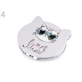 Kozmetické zrkadielko mačka šedá najsv. 1ks Stoklasa