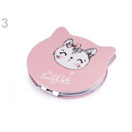 Kozmetické zrkadielko mačka pudrová 1ks Stoklasa