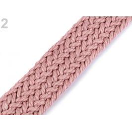 Splietaný bavlnený popruh šírka 25 mm pudrová 1m Stoklasa
