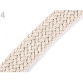Splietaný bavlnený popruh šírka 25 mm režná svetlá 1m Stoklasa