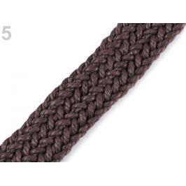 Splietaný bavlnený popruh šírka 25 mm hnedá 1m Stoklasa