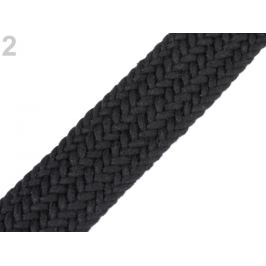 Splietaný popruh na výrobu kabelkových rúčiek šírka 35 mm čierna 1m Stoklasa