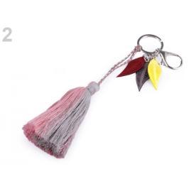 Prívesok na kabelku / kľúče strapec staroružová sv. 1ks Stoklasa