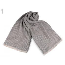 Pletený zimný šál 60x200 cm šeď prachová  1ks Stoklasa