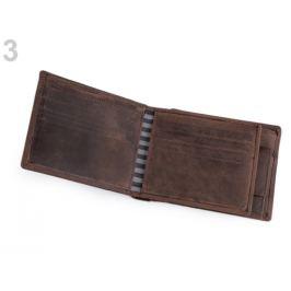 Pánska peňaženka kožená v krabičke hnedá 1ks