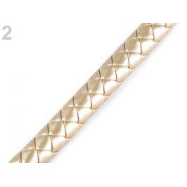 Rúčky na tašky spletené - polotovar Ø12 mm zlatá svetlá 1m Stoklasa