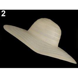Dámsky klobúk na ozdobenie béžová najsv. 1ks Stoklasa