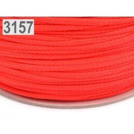 Odevná šnúra PES Ø4 mm Poppy Red 700m
