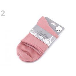 Dámske bavlnené ponožky pudrová 1pár Stoklasa