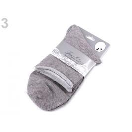 Dámske bavlnené ponožky šedá sv. 1pár Stoklasa