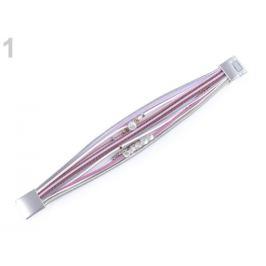 Náramok s korálikmi viacradový lilavá 1ks Stoklasa