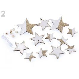 Drevená dekorácia anjel, hviezda biela 1sáčok