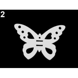 Drevený vtáčik, motýľ, lienka, muchotrávka, konvička na zavesenie / na nalepenie / na domaľovanie biela 6ks Stoklasa