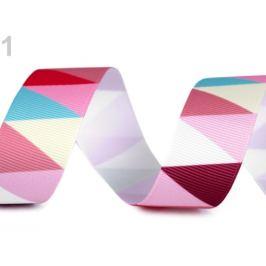 Rypsová stuha / lampas šírka 25 mm ružová 10m Stoklasa